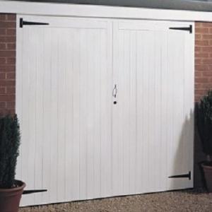 Jeldwen Vertical Rib side hinged garage door