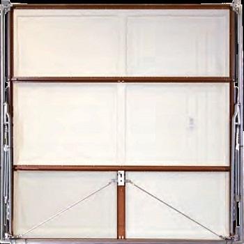 Rear of Retractable Wessex GRP Garage Door showing Steel Chassis