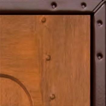 Brown Chassis Edge showing on Woodgrain Door