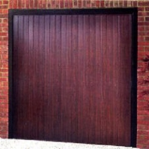 Cardale Elite Vertical-Rib ABS garage door in Rosewood