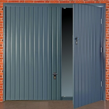 Fort Smartpass Up and Over Wicket Door in Anthracite Grey