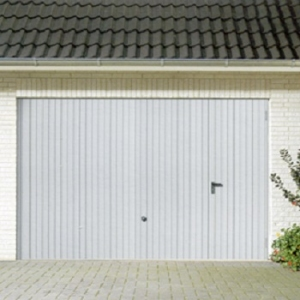 Hormann Steel Up and Over garage door with Wicket