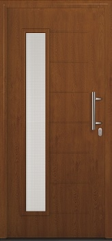 Hormann ThermoPro TPS 025 Front Door in Golden Oak Decograin