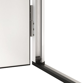 20mm high aluminium/plastic threshold and double sealing reduces heat loss