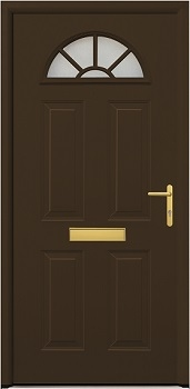 Hormann ThermoPro TPS 200 front door in Terra Brown