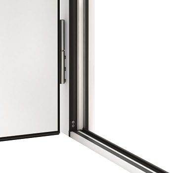 20mm high aluminium/plastic threshold with triple sealing and thermal break improves insulation