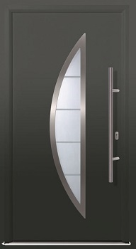 Hormann ThermoPlus THP 900 front door in Titan Metallic CH 703