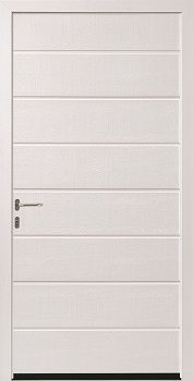 Hormann M-Ribbed Woodgrain Steel Side Door