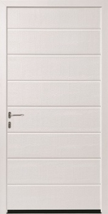 Hormann M-Ribbed Steel Side Door in White