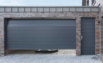 Carteck sectional garage door with matching side door