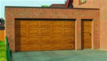 Carteck sectional garage door with matching side door