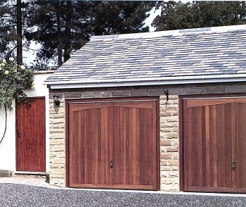 Hormann Gatcombe timber up & over doors with matching side door