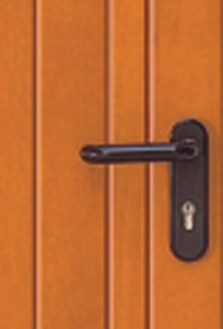 Black lever handle, as standard