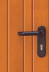 Black lever handle, as standard