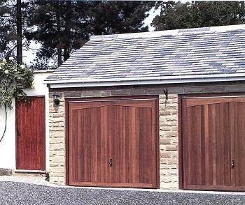 Hormann Gatcombe timber up & over doors with matching side door