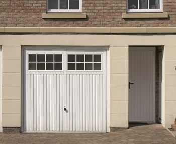 Hormann Ilkley Steel Up & Over garage door with matching side door
