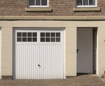 Hormann Ilkley Steel Up & Over garage door with matching side door