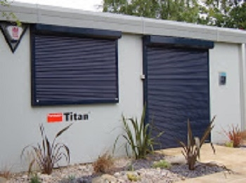 Standard security shutters with manual spring & lock operation