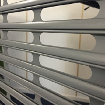 Vision slat shutter installed