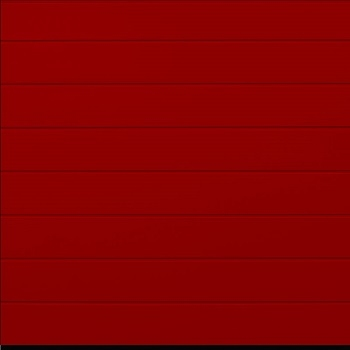 Hormann LPU42 M-Ribbed Woodgrain Sectional Door in Ruby Red