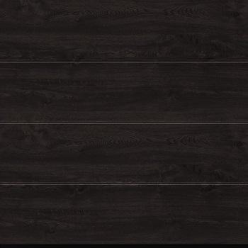 Hormann LPU42 L-Ribbed Decograin Sectional Door in Night Oak