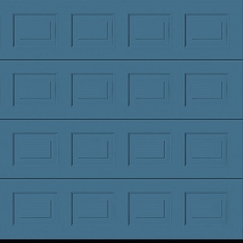 Hormann LPU42 S-Panelled Woodgrain Sectional Door in Pigeon Blue