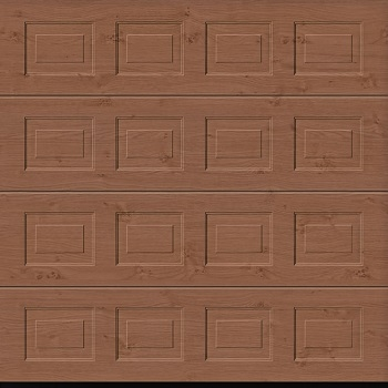 Hormann LPU42 S-Panelled Decograin Sectional Door in Winchester Oak