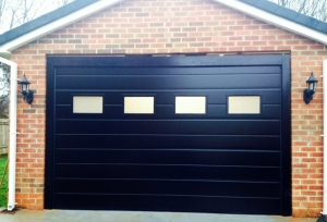 Alutech M-Ribbed Smooth sectional garage door