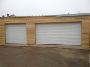 Aluroll Insulated Automatic roller shutter garage doors