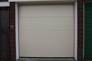 Hormann Insulated L-Ribbed Silkgrain sectional garage door