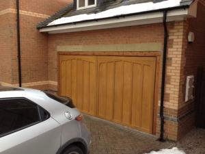 Cardale Tudor cedarwood up and over garage door