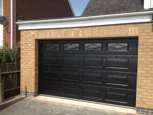 Carteck Georgian Insulated sectional garage door