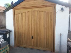 Woodrite Langley Idigbo up and over garage door