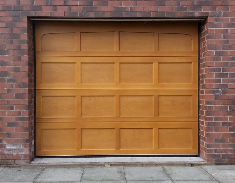 1172 #996632  Door Bradwell Sectional Garage Door Fully Finished In Light Oak picture/photo Oak Garage Doors 38491500