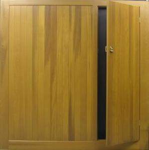 Cedar Door Bakewell Timber Up  Over Door with Wicket