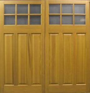 Cedar Door Middleton Side-Hinged garage doors