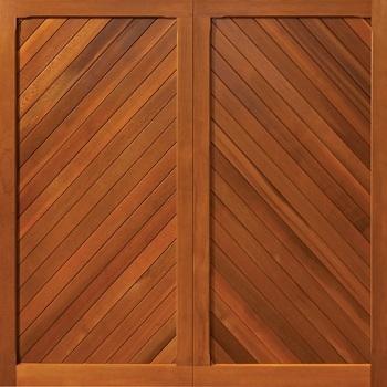Woodrite Burnham cedarwood up and over garage door