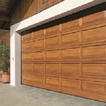& Hormann LTH V-Panelled Timber Sectional Garage Door
