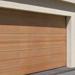 Hormann LTH Ribbed timber sectional garage door