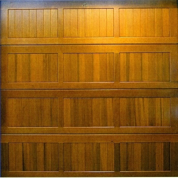 Cedar Door Bamford cedarwood sectional garage door