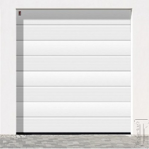 Carteck Centre Ribbed 40mm insulated sectional garage door