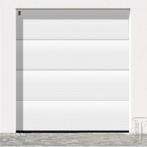 Carteck Solid Rib Insulated sectional garage door