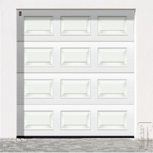 Carteck Georgian Insulated sectional garage door