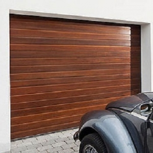 Carteck Standard Rib Wood Design 40mm Insulated Sectional Garage Door