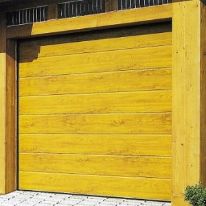 Carteck centre Rib Wood Design Insulated sectional garage door