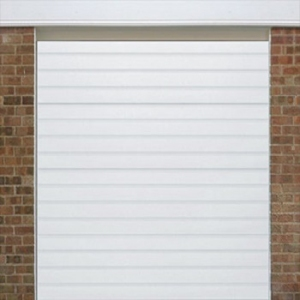 Alutech SRibbed Woodgrain insulated sectional door