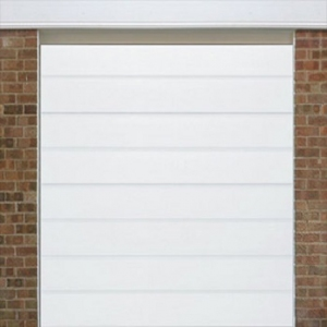 Alutech MRibbed Woodgrain insulated sectional door