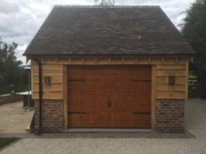 Hormann LTH Nordic Pine sectional garage door
