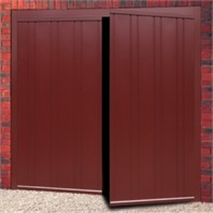 Cardale Vogue Steel Side-Hinged garage doors in Rosewood