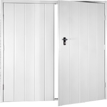Fort Vertical Medium Rib Steel Side-Hinged Garage Doors